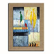 Ζωγραφισμένα στο χέρι Άνθρωποι / Φαντασία ελαιογραφίες,Μοντέρνα / Ρεαλισμός Μονόπτυχα Καραβόπανο Hang-ζωγραφισμένα ελαιογραφία For Αρχική