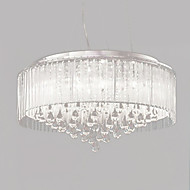 Max 40W Pendant Light ,  Modern/Contemporary / Drum Chrome Feature for Crystal Metal Living Room / Bedroom / Dining Room