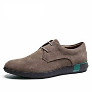 Men's casual shoes comfortable new style leather nubuck leather lace-up men's casual shoes