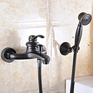 Aquafaucet Oil Rubbed Bronze Wall Mount Handheld Tub Shower Faucet shower mixer tap set Single Handle Wall Mount