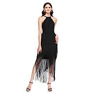 2017 Lanting Bride® Asymmetrical Georgette Little Black Dress Bridesmaid Dress - Sheath / Column Jewel with Ruffles