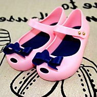 Girl's Sandals Summer PVC Casual Flat Heel Bowknot Blue Pink Purple Fuchsia Others