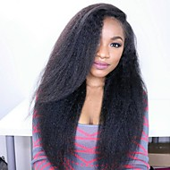 8 to 24 inches Brazilian Human Hair Wigs Kinky Straight Glueless Lace Front Wigs For Black Women