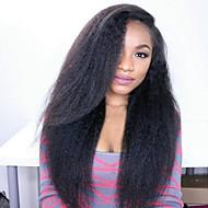 cheveux humains 8 à 24 pouces brazilian perruques dentelle glueless devant perruques droites crépus pour les femmes noires