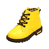 Unisex Boots Spring / Fall Combat Boots PU Casual Flat Heel  Black / Yellow / Pink / Red Others