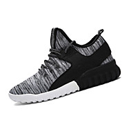 Men's Sneakers Fall / Winter Round Toe Fabric Athletic Flat Heel Others / Lace-up Black / Gray Sneaker