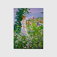 手描きの 風景 / 人物 / 花柄/植物の 油彩画,Modern 1枚 キャンバス ハング塗装油絵 For ホームデコレーション