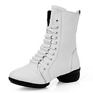 レディース-ダンスシューズ(ブラック / レッド / ホワイト) -オーダーメイド不可-ローヒール-モダンダンス / ダンスブーツ