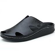Tøfler & Klip Klapper-Læder-Komfort-Herrer--Fritid-Flad hæl