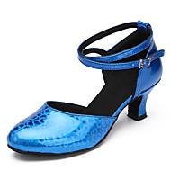 Sapatos de Dança(Azul / Vermelho / Prateado / Dourado) -Feminino-Personalizável-Latina / Moderna