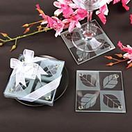 Beter Gifts Wedding dcor 2pcs Glass Coasters Patterns / Summer / TeaTime / Bridesmaids / Bachelorette