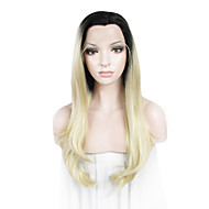 IMSTYLE Hot Selling popular Blonde With Black Root Natural Wave Synthetic Lace Front Wigs