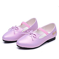 Flats Spring Fall Ballerina Light Up Shoes PU Casual Flat Heel Bowknot Pink Purple Other