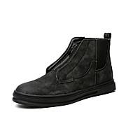 Men's Fashion Boots Leatherette Casual Flat Heel Gore / Zipper Black / Brown Snow Boots EU39-43