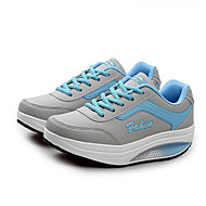 Damen-Sneaker-Outddor Lässig-Kunstleder-Plateau Creepers-Komfort-Schwarz Blau Rosa