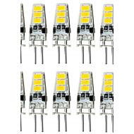 10db 1.5w g4 6smd 5733 dc12v 150-200lm meleg fehér / fehér dekoratív / vízhatlan kétpólusú lámpák