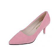 Women's Heels Fall Shoes & Matching Bags Leatherette Casual Stiletto Heel Others Black / Pink / Gray / Dark Gray Others
