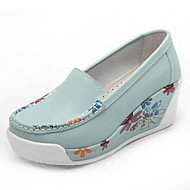 Damen Loafers & Slip-Ons Leder Frühling Sommer Herbst Winter Normal Blume Plateau Schwarz Orange Gelb Blau Marineblau 5 - 7 cm