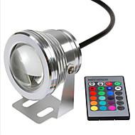 RGB 10W מתח בטיחות עמיד למים מתחת למים מנורה IP68 12v אורות צבעוניים מתחת למים