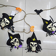 ihmisen luuranko seppeleitä bunting koristeet halloween kankaalla ihmisen kuva rekvisiitta seinä taustalla festivaali sisustus