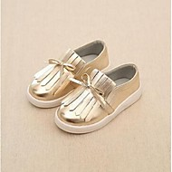 Unisex Loafers & Slip-Ons Spring / Fall Closed Toe PVC Casual Flat Heel Ribbon Tie Black / Silver / Gold Others