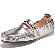 Men's Loafers & Slip-Ons Spring/Summer/Fall/Winter Moccasin Patent Leather Party & Evening/Casual Black/Silver
