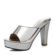 נשים-סנדלים-דמוי עור-עקבים / פלטפורמה / נוחות / חדשני / גלדיאטור / בלרינה בייסיק / נעליים ותיקים תואמים / נעלי בית-שחור / כסוף / זהב-