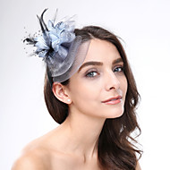 Women's Feather / Net Headpiece-Wedding / Special Occasion Fascinators 1 Piece