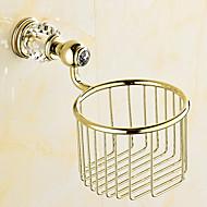 Porte Papier Toilette / Ti-PVD / Fixation Murale /5.3*5.3*3.1 inch /Laiton /Contemporain /13.5CM 13.5CM 0.5