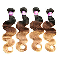 ombre 3 τόνος παρθένο μαλλιά φθηνά επεκτάσεις 7α βραζιλιάνα παρθένα Τ1 Β μαλλιά / 4/27&Τ1 Β / 27 4pcs / πολλά Βραζιλίας κύμα σωμάτων