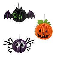 Aranha abóbora lâmpada bat lanternas de papel decoração do partido do dia das bruxas