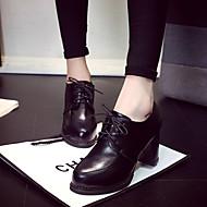 Kényelmes-Vastag blokk Heel-Női-Félcipők-Alkalmi-PU-
