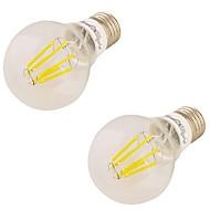 YouOKLight 2PCS E27 6W 6*LED 550LM 3000K Warm White Edison Bulbs LED Filament Light(85-265V)