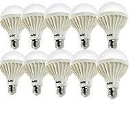 5W E26/E27 LED Λάμπες Σφαίρα A60(A19) 9 SMD 5630 400 lm Θερμό Λευκό / Ψυχρό Λευκό Διακοσμητικό AC 220-240 V 10 τμχ