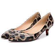 Women's Heels Spring / Fall T-Strap Patent Leather Office & Career / Dress / Casual Stiletto Heel Others Black / Almond