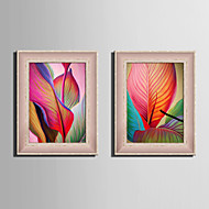 E-HOME® Framed Canvas Art, Large Colored Leaves Framed Canvas Print One Pcs