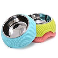 Katze Hund Schalen & Wasser Flaschen Futter-Vorrichtungen Haustiere Schüsseln & Füttern Tragbar Klappbar Gelb Blau Rosa