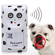 Hund Elektronisk Opførselshjælp Ultralyd Trådløs Anti-gø Hvid Plastik