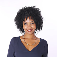 verworrene lockige Perücke volle Spitze-Menschenhaarperücken für schwarze Frauen 8a kurze Bob peruanischer Menschenhaarperücken