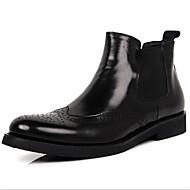 Støvler-Læder-Lukket tå-Herre-Sort / Brun-Udendørs / Hverdag-Tyk hæl