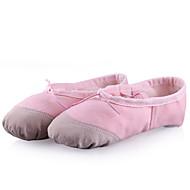 Kan ikke spesialtilpasses-Dame-Dansesko-Ballett-Stoff-Flat hæl-Svart / Rosa / Rød / Hvitt