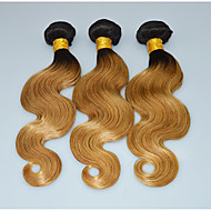 Ombre Dark Blonde Brazilian Hair Weave Bundles Pansy Hair Style Body Wave Honey Blonde Hair Extensions
