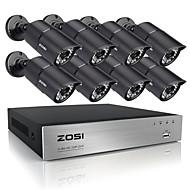 ZOSI 8CH HDMI 720P DVR 8 pcs 1.0MP IR Home Surveillance Security Cameras CCTV System