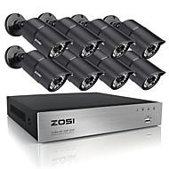 zosi DVR 720p 8ch HDMI 8 יח 1.0mp מערכת טלוויזיה במעגל סגור מצלמות אבטחה ומעקב ir הביתה