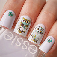 1 Nail Art Sticker Watertransfer decals Cartoon / Schattig make-up Cosmetische Nail Art Design
