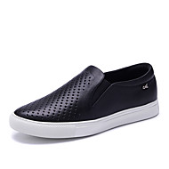 Women's Loafers & Slip-On Spring / Fall Comfort / Round Toe Cowhide Outdoor / Office & Career / Casual Flat Heel