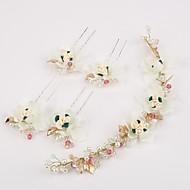 Femme Strass / Imitation de perle / Résine Casque-Mariage / Occasion spéciale Serre-tête / Epingle à Cheveux 5 Pièces