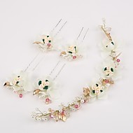 Women's Rhinestone / Imitation Pearl / Resin Headpiece-Wedding / Special Occasion Headbands / Hair Pin 5 Pieces
