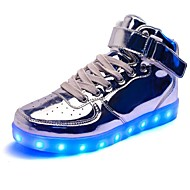 Running Shoes Men's LED'S Shoes Sneakers Comfort / Flats Party / Athletic / Casual Flat Heel Sequin / LED Gold / Silver