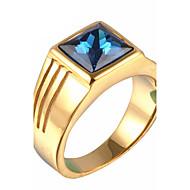 טבעות הצהרה פלדת טיטניום אופנתי וינטאג' מותאם אישית זהב כסף תכשיטים יומי קזו'אל Christmas Gifts 1pc
